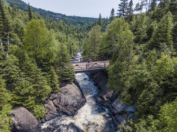 Biking - 2018 Lutsen99er - Aerial Photo - Credit Lutsen99er