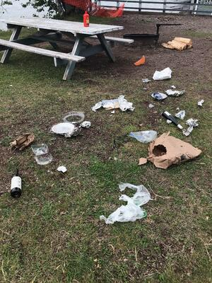 Garbage in Tofte Park