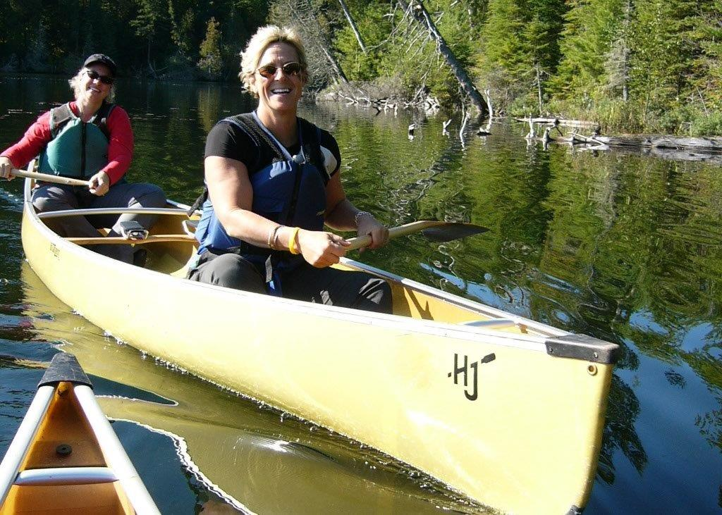 Hungry Jack Outfitters two women in a canoe