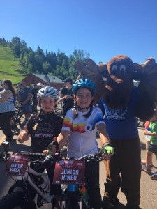 Murray with Kids at Lutsen99er