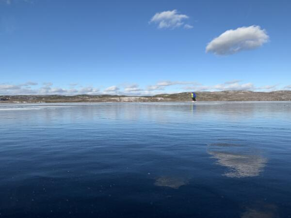 Frozen Gunflint Lake - looks just like the sky