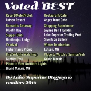 Lake Superior Magazine Readers Poll. Cook County MN wins several awards!